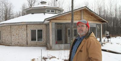 Stupendous Couple Builds Cordwood Dream House Union Times Hometownsource Com Wiring Digital Resources Helishebarightsorg