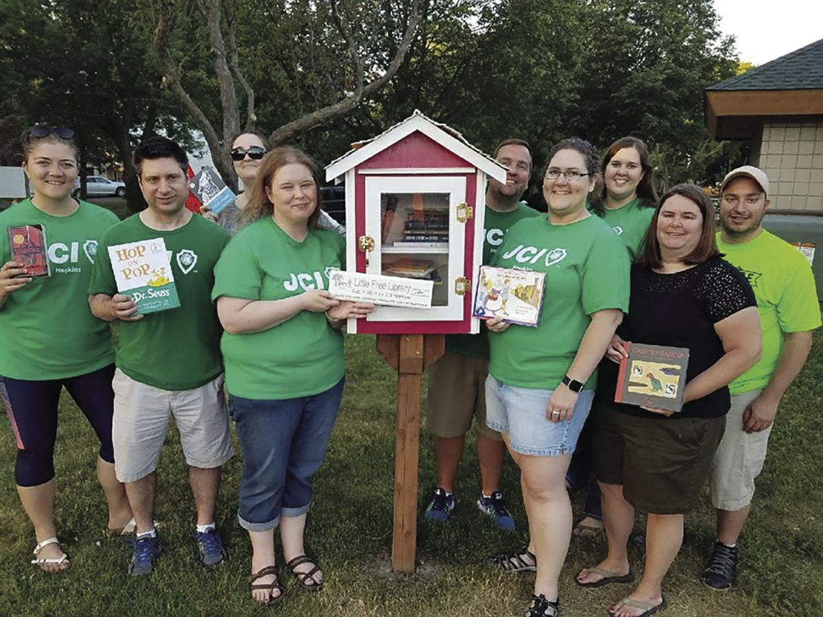 Three Little Free Libraries gifted to Hopkins parks