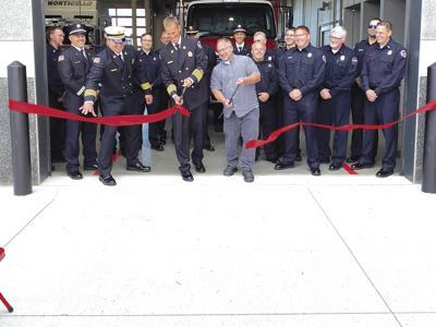 Fire department ribbon cutting