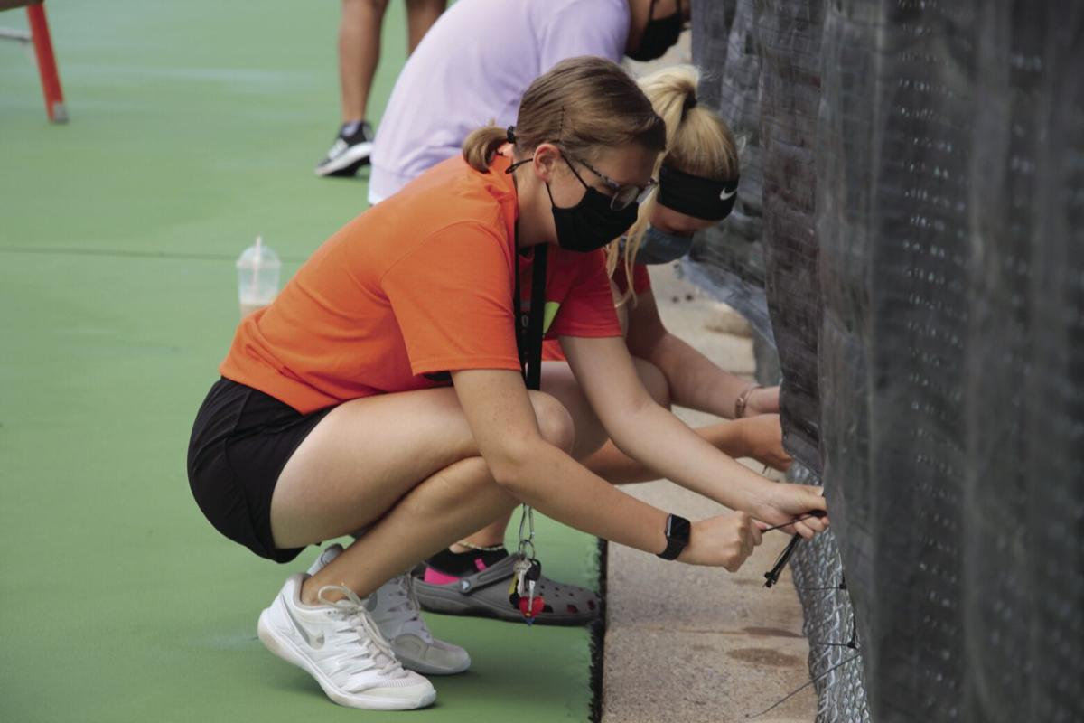 Osseo tennis back to practice