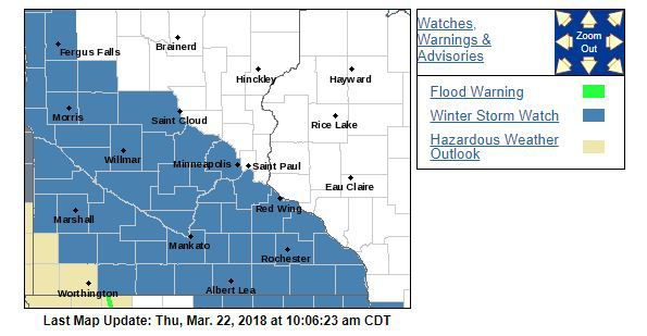 Snow rain expected this weekend sun patriot hometownsource the national weather service has issued a winter storm watch for much of southern minnesota including carver county photo courtesy of nws sciox Image collections