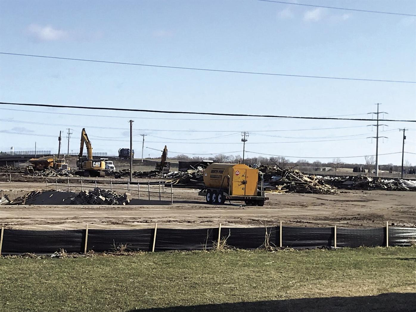 Former Ahren's Greenhouse buildings come down in Maple Grove
