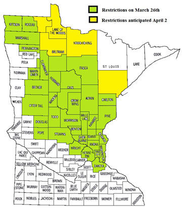 Burning restrictions take effect March 26 for much of Central and