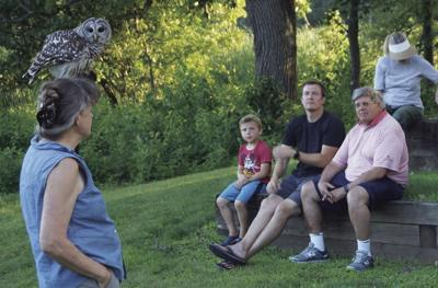 Recent Campfire Program with a barred owl.jpg