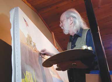 Kapsner at painting