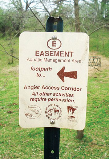 Easement sign