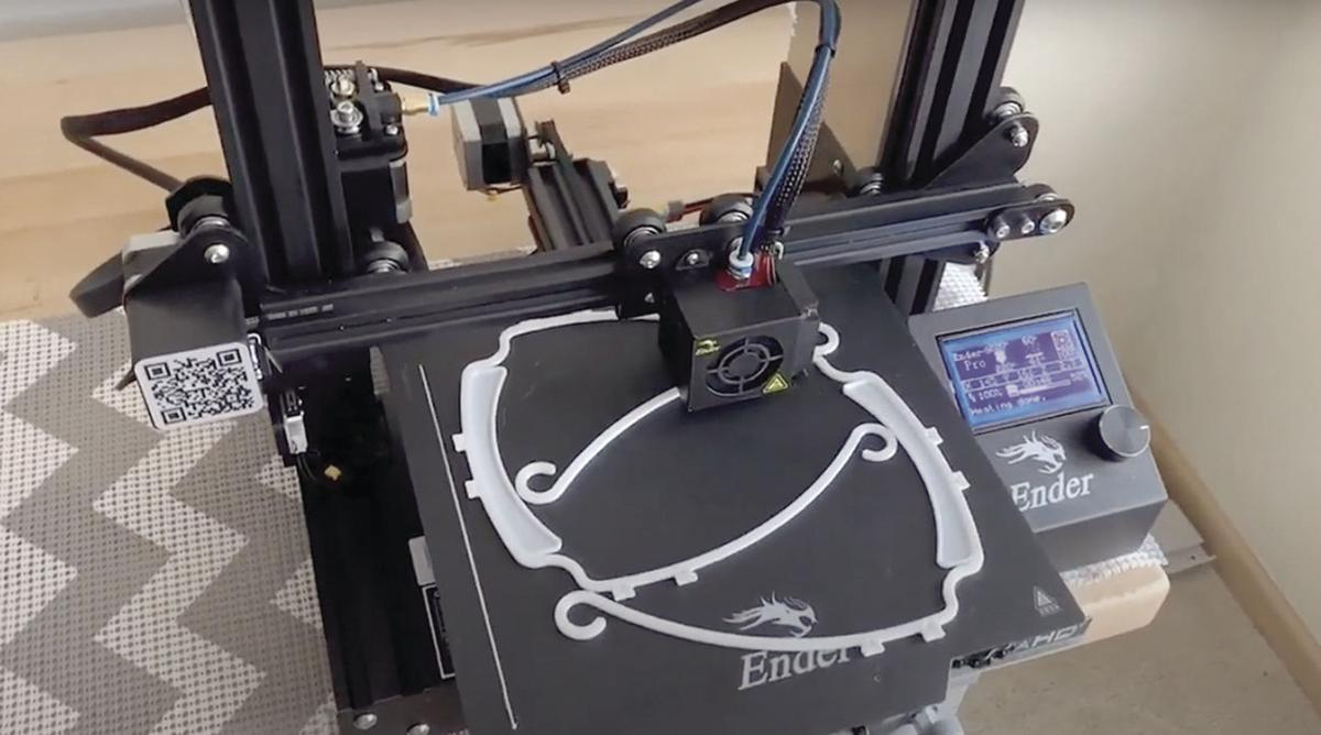 3d-printed face shield frames