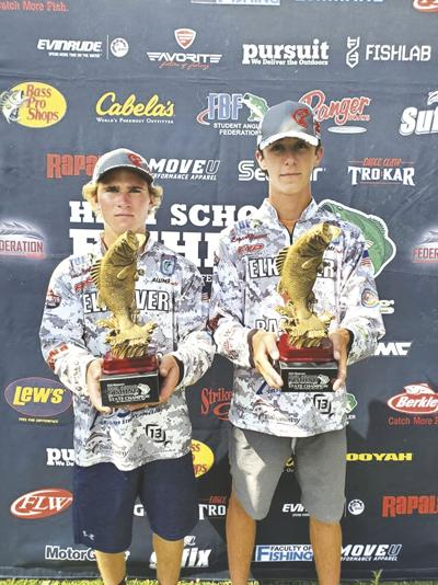Melcher and Huewe with state trophies