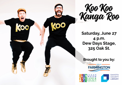 Koo Koo Kanga Roo perform live at Farmington Dew Days