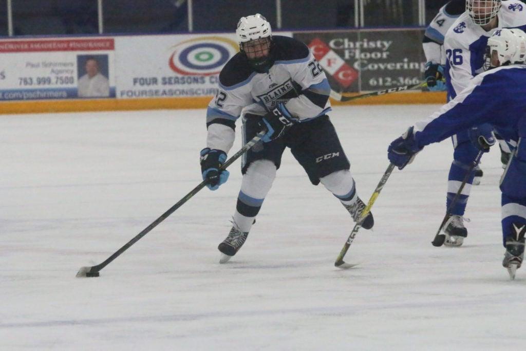 Bryce backing up Brodzinski name for Blaine boys hockey