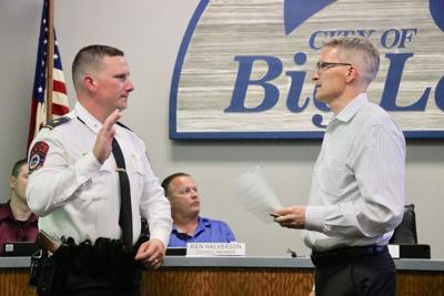 Matt Hayen sworn in Swear in