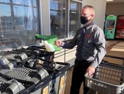 Coborn's Inc. adds cart sanitizing equipment