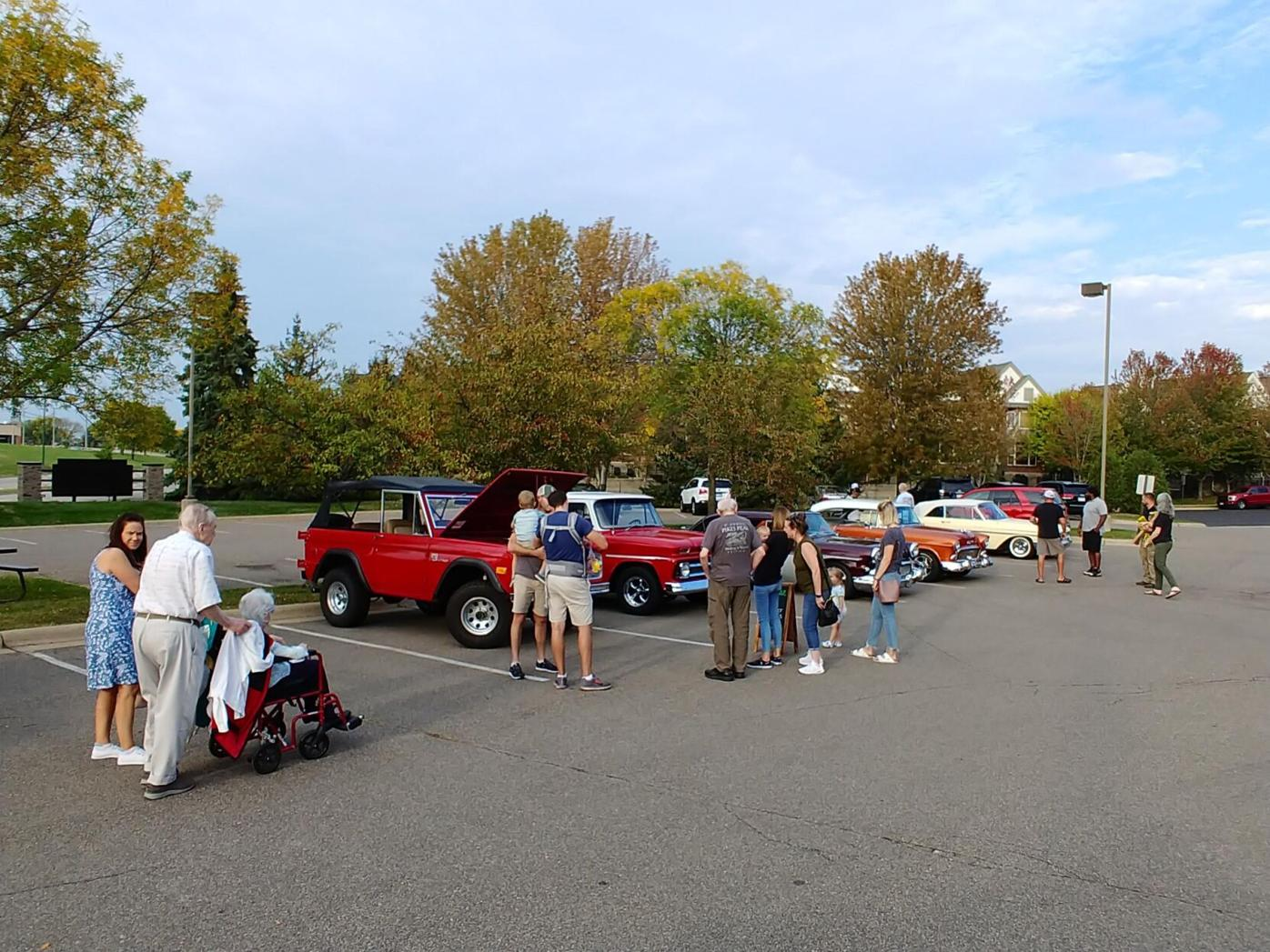 Residents, Families, and Community Members alike enjoyed viewing the classic cars on display.