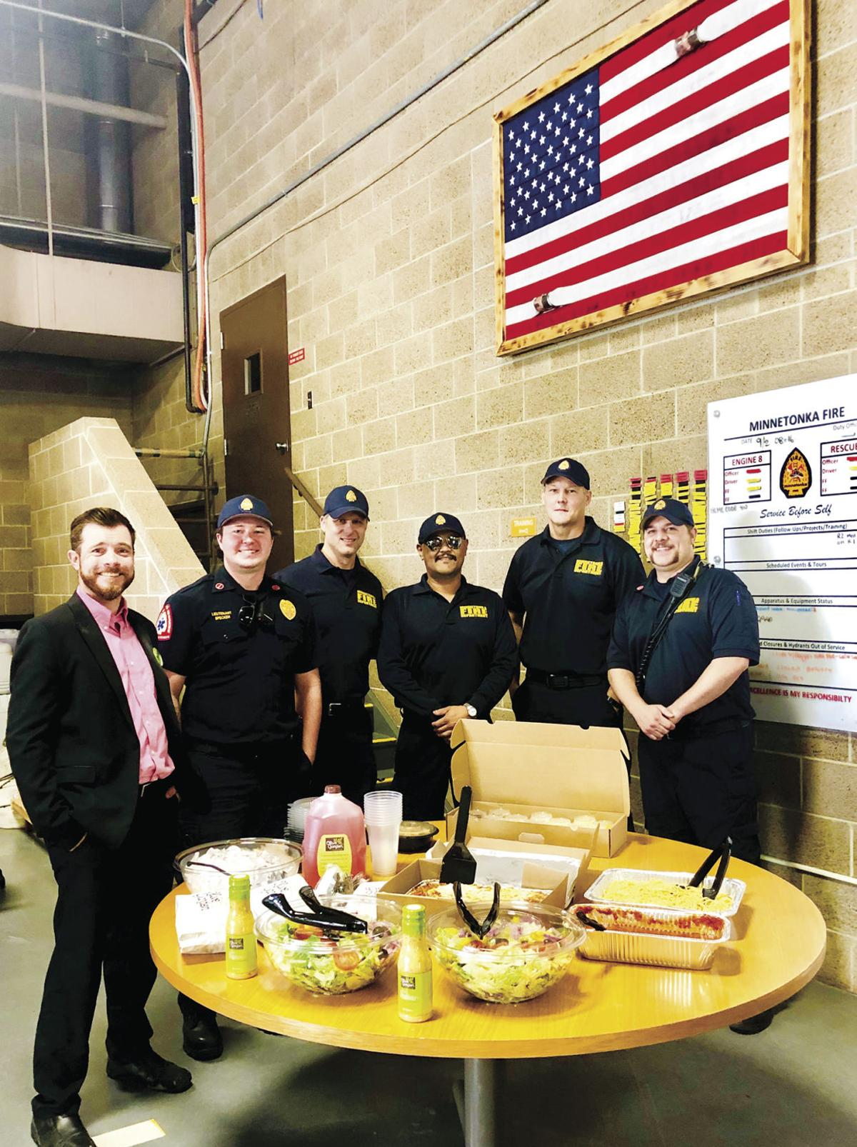 St. Louis Park Olive Garden helps Minnetonka firefighters have fun at work (photos) - 2