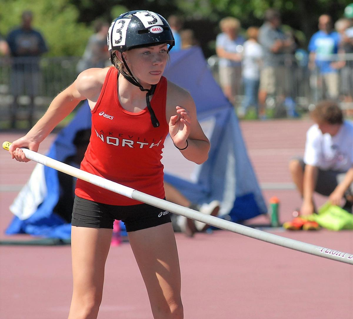 North vaulter shares school record with her sister