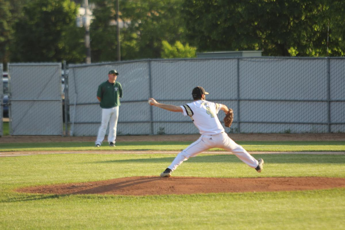 Casey Storlie pitches