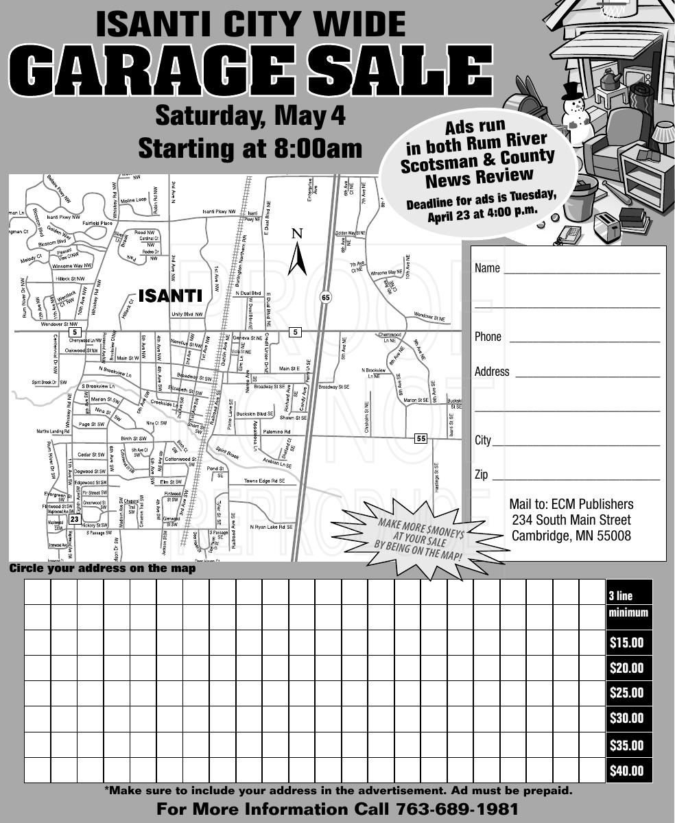 Isanti City-Wide Garage Sale | | hometownsource com