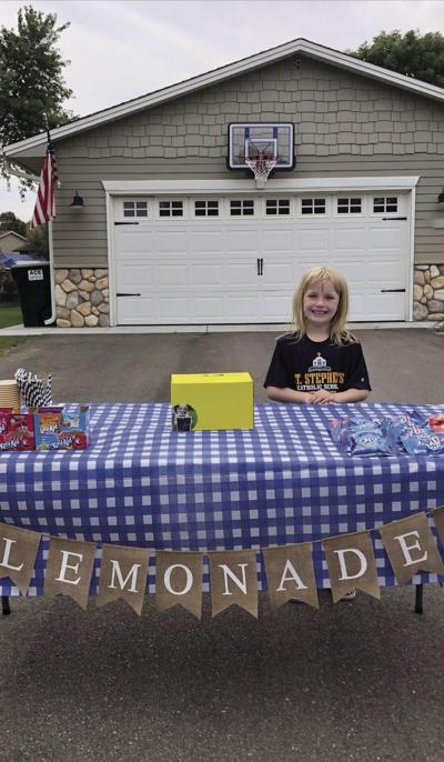 Young entrepreneur uses lemonade, technology to raise money for her school