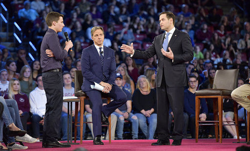 Student questions Rubio at town hall meeting