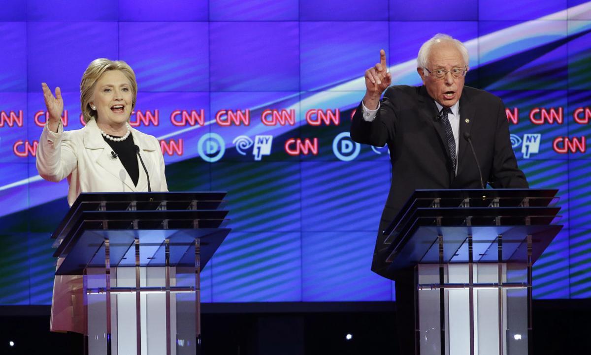 Hillary Clinton, Bernie Sanders (copy for Fanlund column)