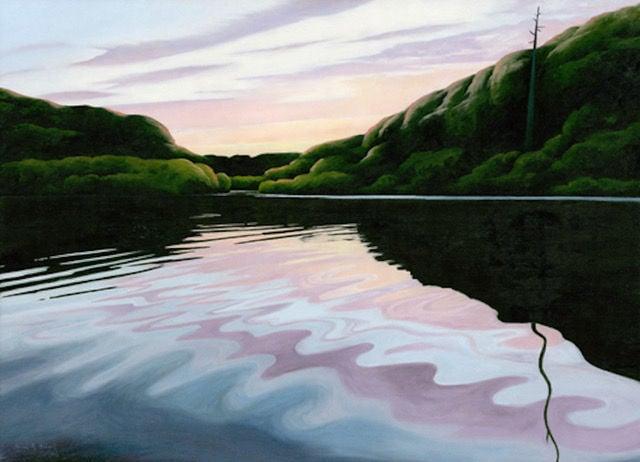 """Contemplative Landscapes"" -- ""Inlet Sunset"""