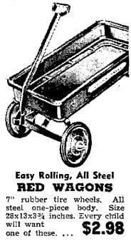Vintage toy wagon ad