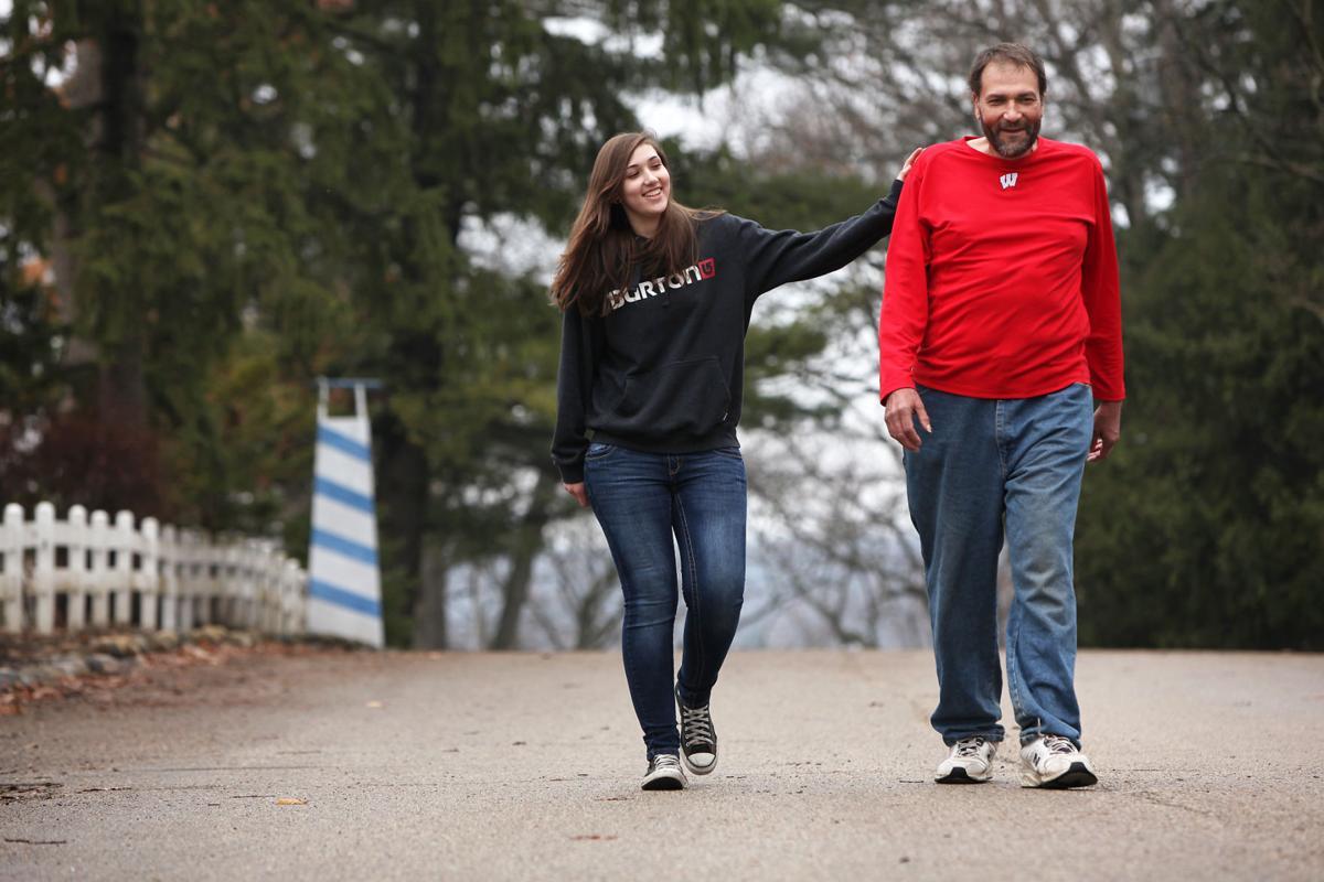John and Cheyenne walking