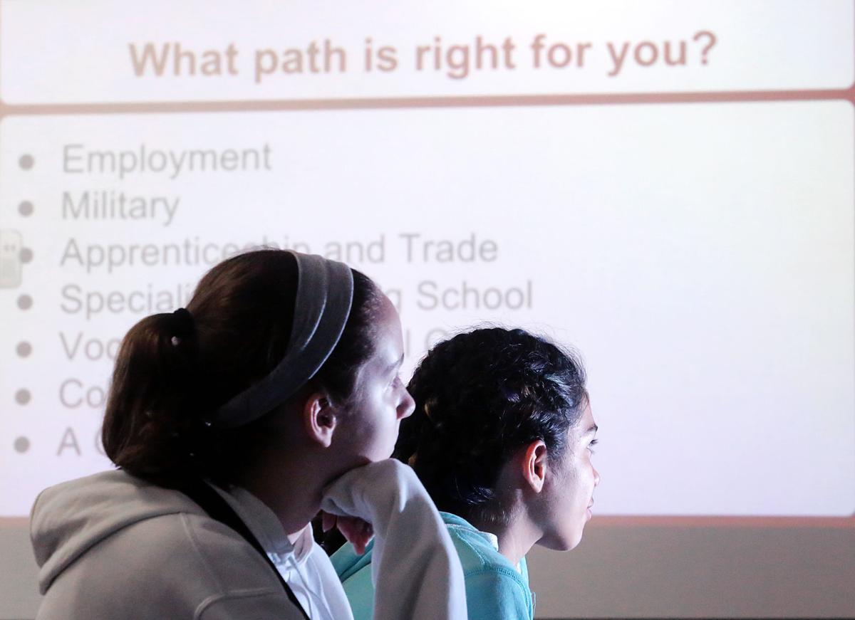 Seventh graders get a lesson in academic and career options after high school