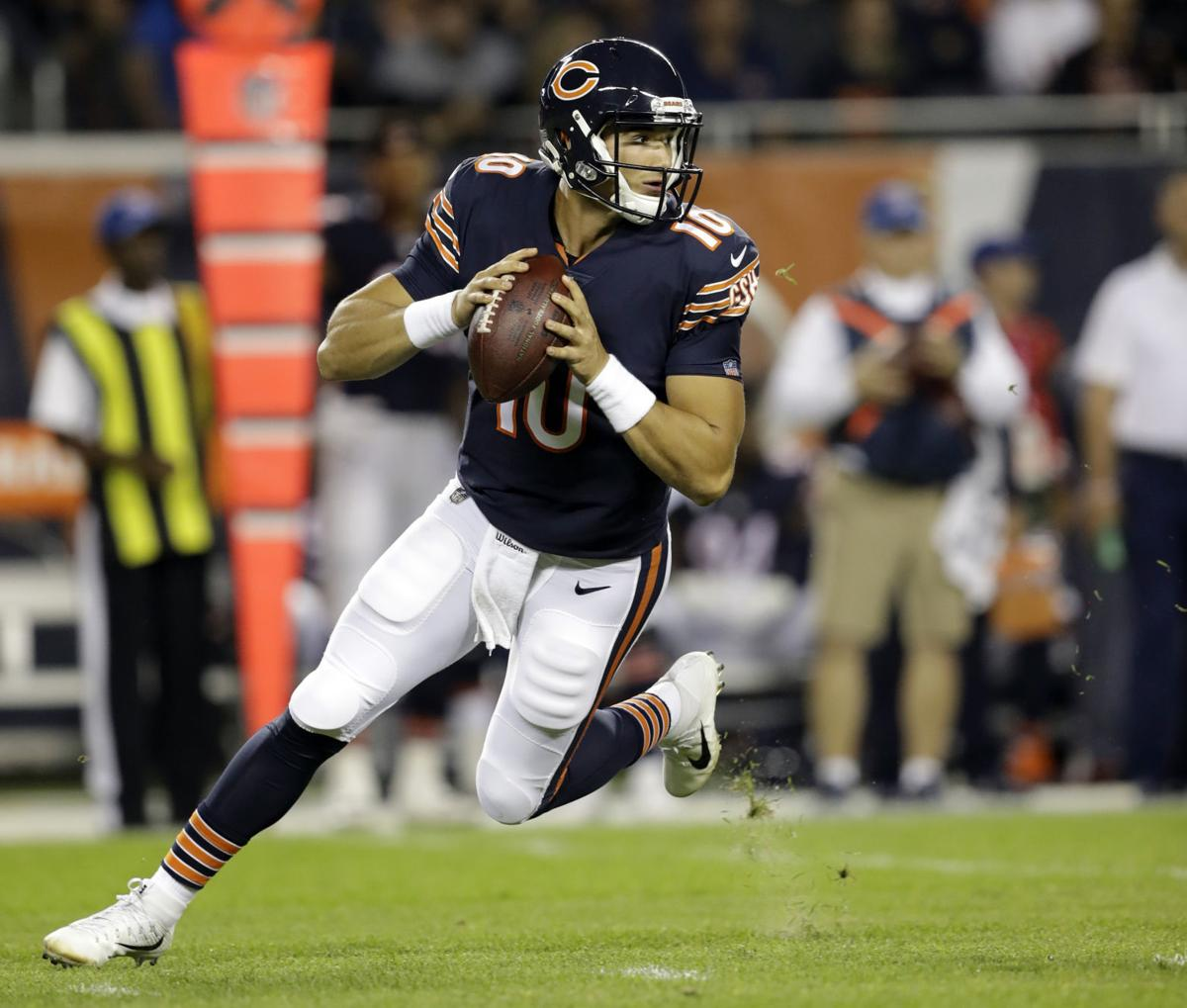 Mitchell Trubisky debut, AP photo