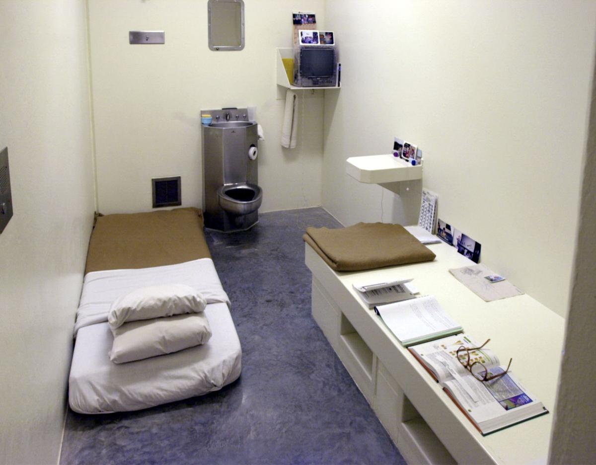 The Interior Of A Solitary Cell At Wisconsin Secure Program Facility In Boscobel Wis Seen During Media Tour 2001 Inmates May Place Mattress