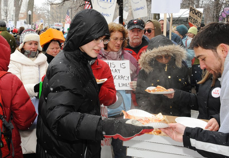 Seen: Ian's Pizza for protesters main