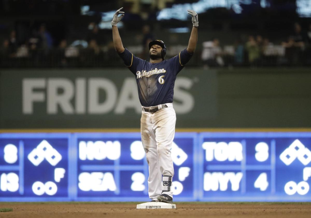 Image result for lorenzo cain brewers