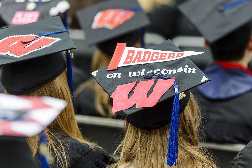 UW students graduation, UW-Madison photo