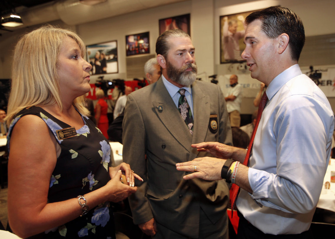As poll numbers fall, Scott Walker recalibrates his campaign