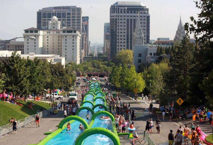 Madison refuses giant slip n slide for east washington avenue politics and elections host - The giant slide apartament ...