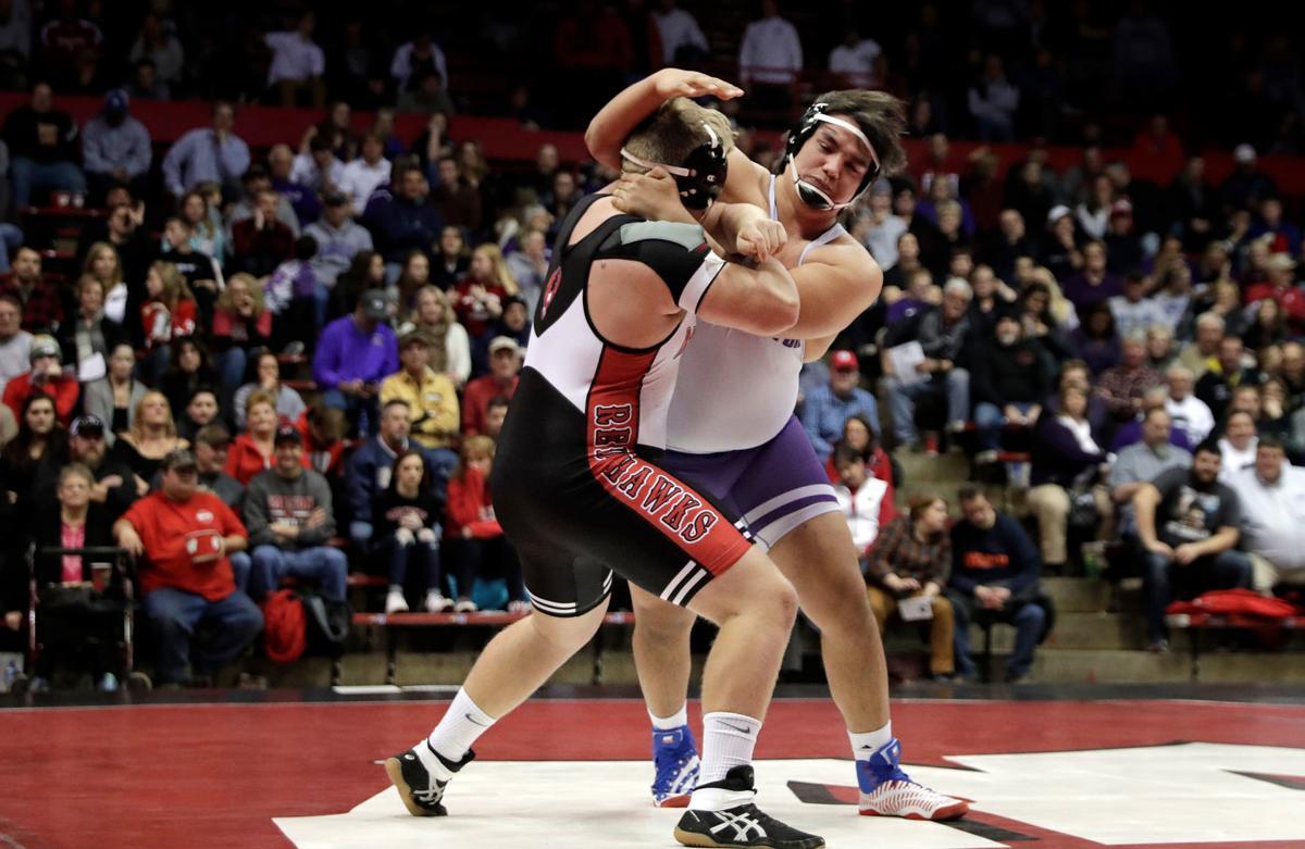 Stoughton 285-pound wrestler Aodan Marshall