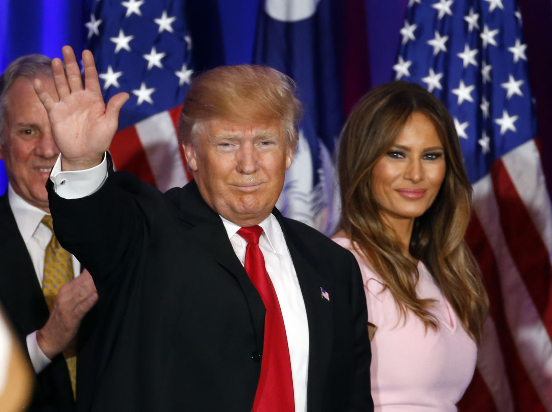 Donald Trump and wife Melania Sykes interview