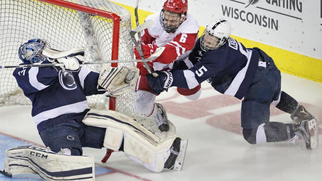 Badgers men's hockey: Penn State takes advantage of sloppy ...