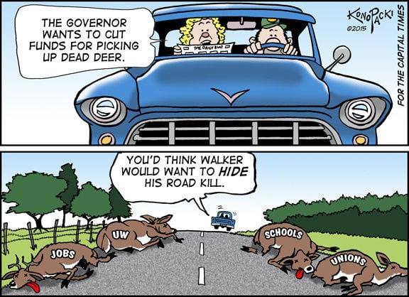 Plain Talk: Scott Walker's Deer Carcass Proposal Says It