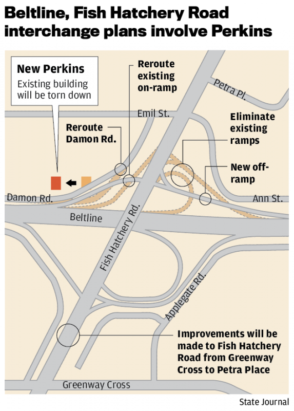 More angst for fish hatchery road users beltline ramp for Fish hatchery jobs