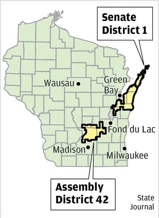 Senate District 1 and Assembly District 42