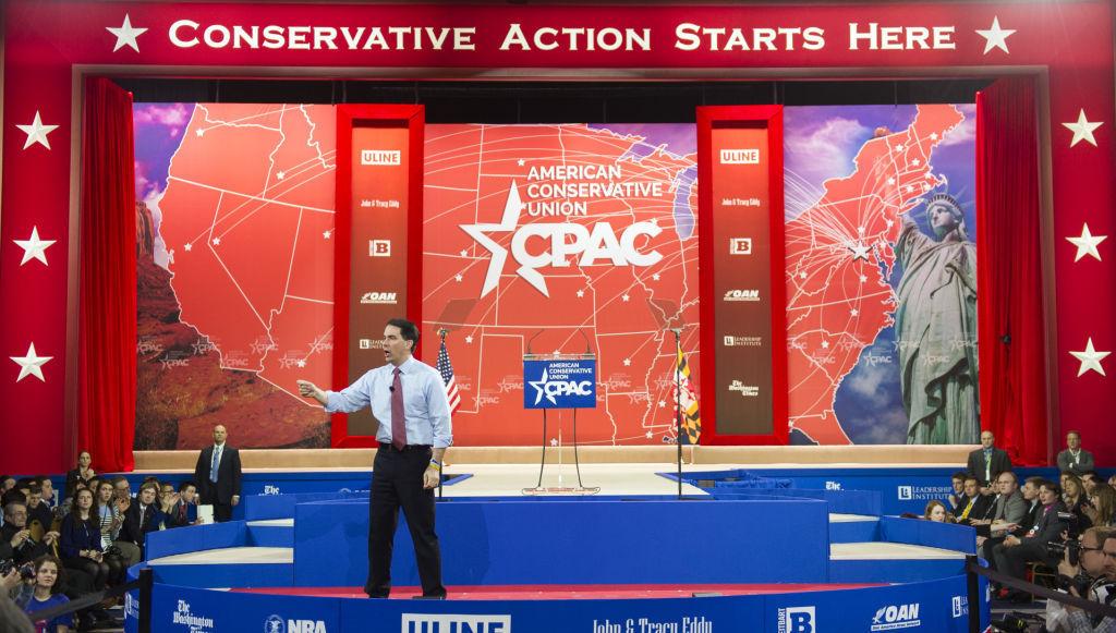 GOP 2016 Presidential race, Scott Walker speaks at CPAC 2015, AP photo