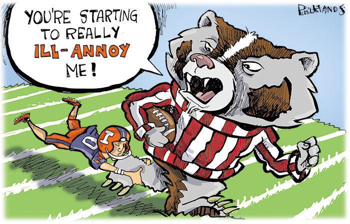 Illinois bothers Bucky Badger