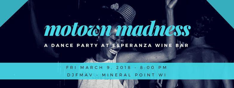 Motown Friday Night Dance ESPERANZA WINE BAR