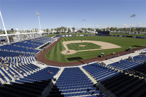 Maryvale Baseball Park, Brewers spring training, AP photo