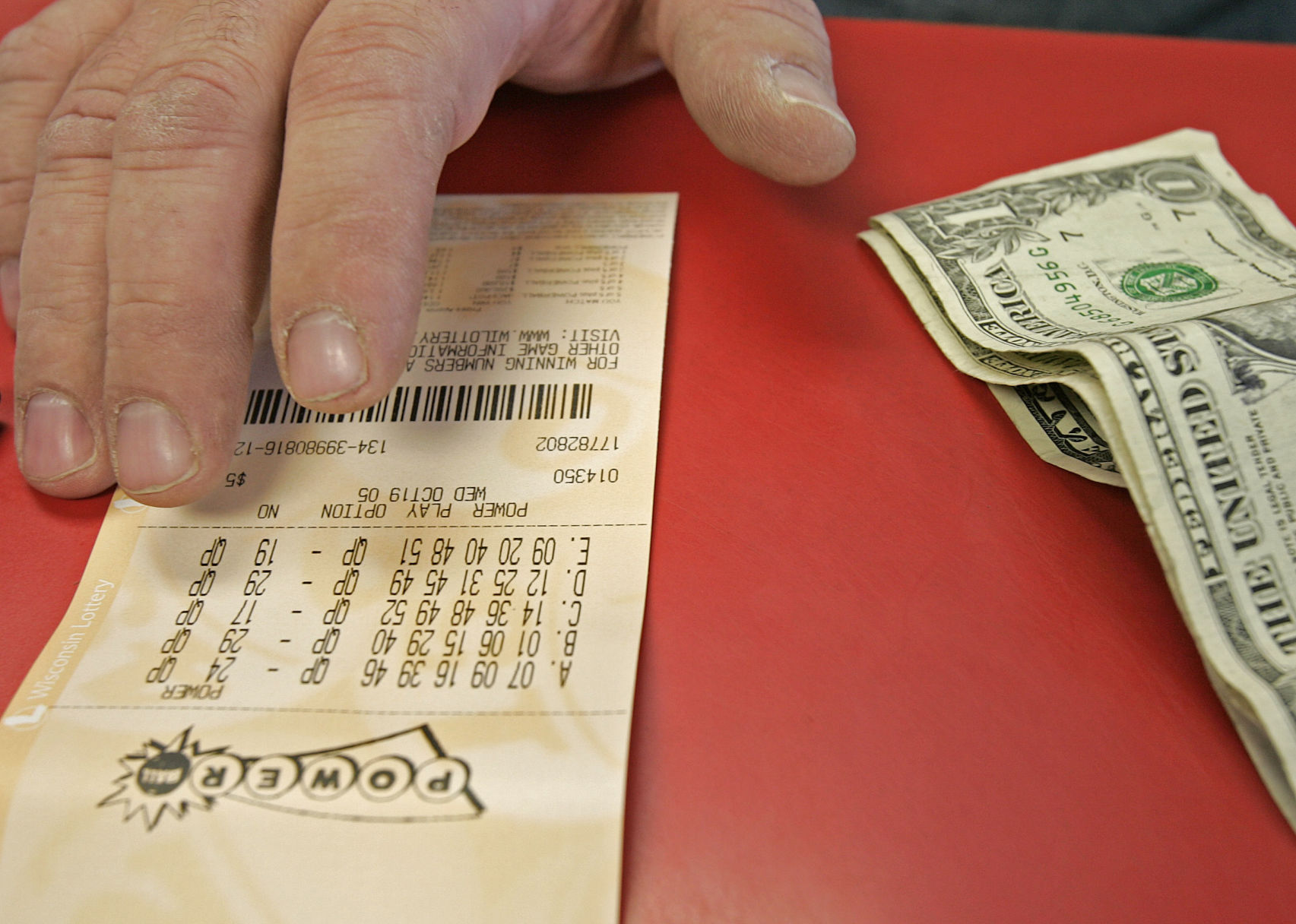 Powerball ticket AP archives