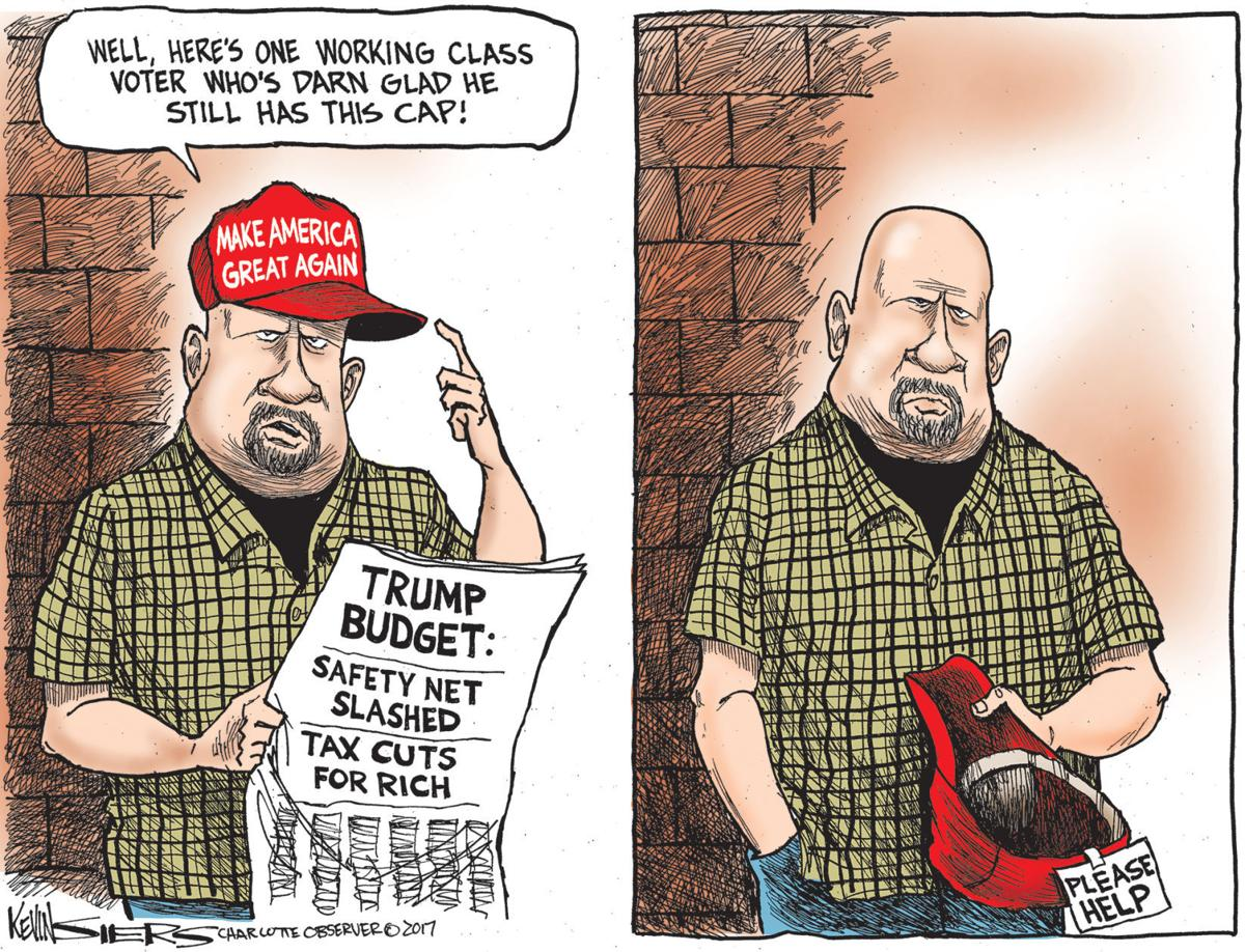 Image result for trump 2019 budget cartoon