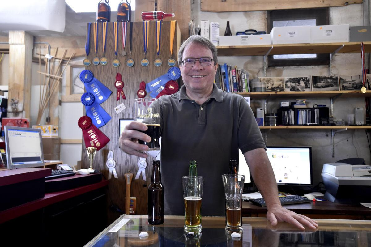 Mark Flynn with award-winning stout