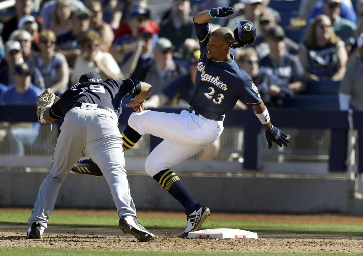 Keon Broxton, spring training, AP photo