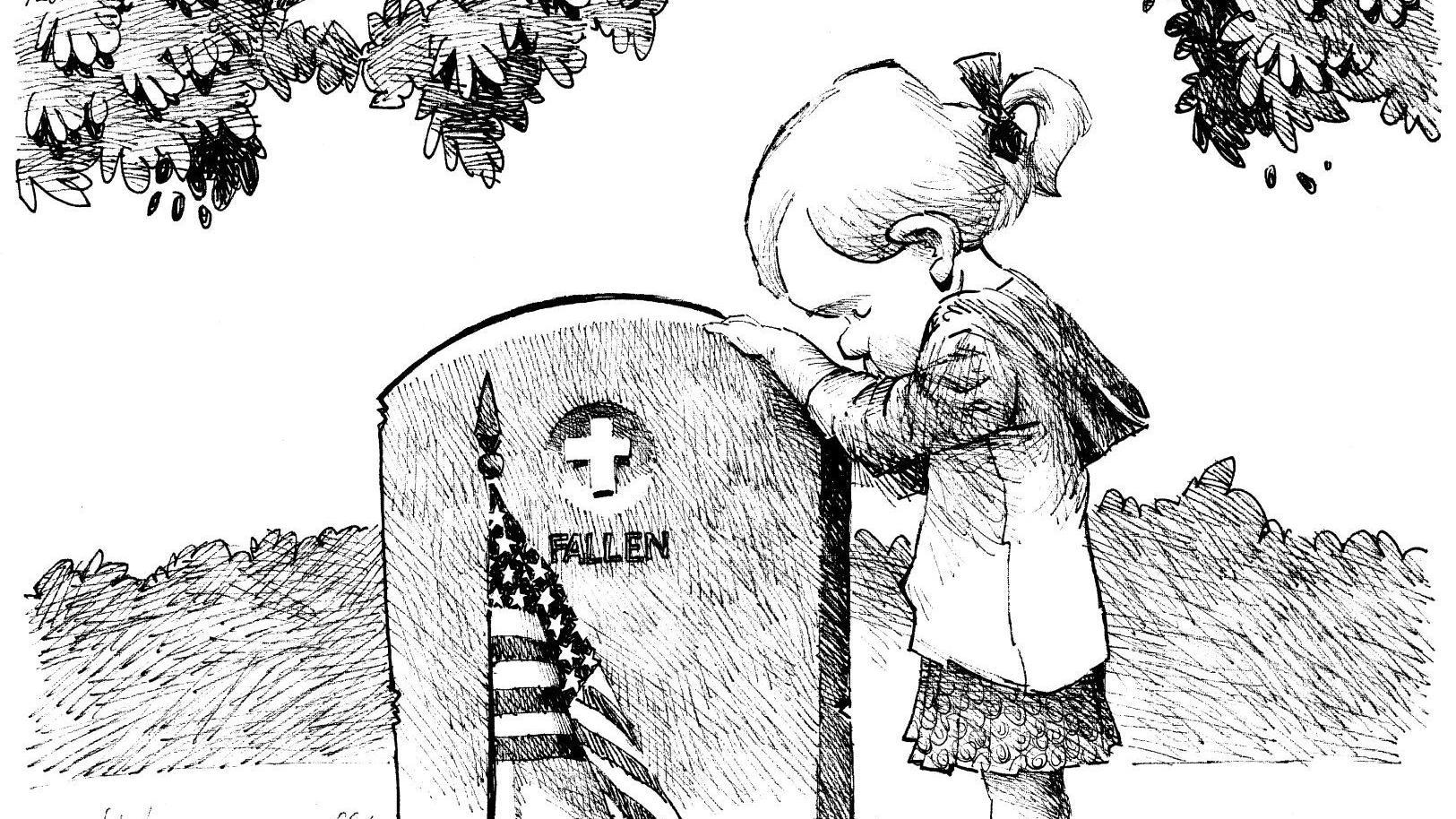 A child remembers the fallen, in John Darkow's latest